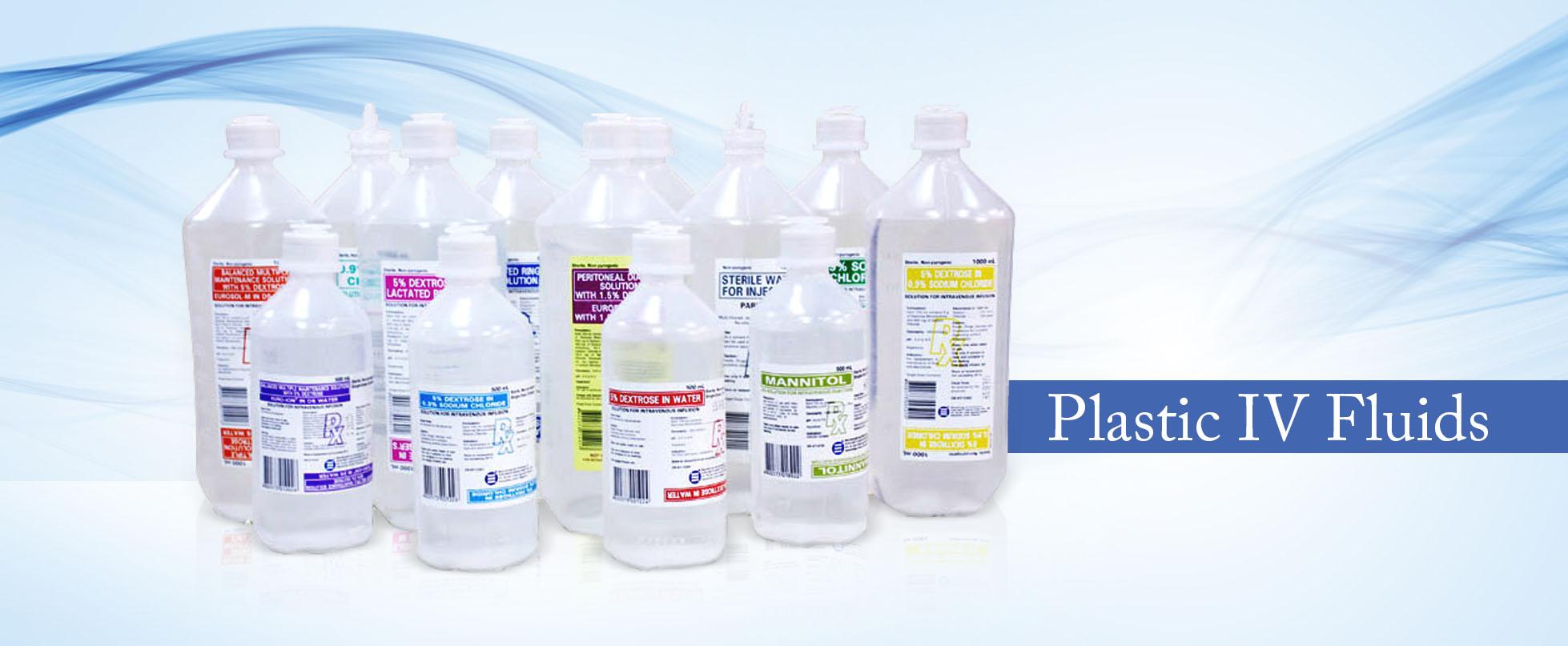 Plastic IV Fluids
